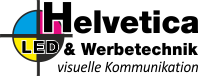 Helvetica LED Werbung